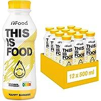 YFood Banana | Batido Sustitutivo | Sustitutivo de comida sin lactosa ni gluten | 33g de proteínas, 26 vitaminas y…