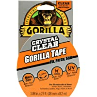 Gorilla ADHGGTCLR 07164000719, Crystal Clear Duct Tape, 1-Pack