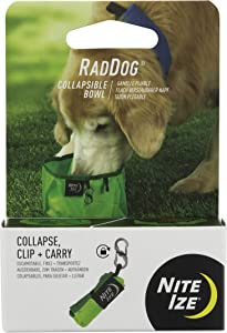 Nite IZE RadDog Collapsible Dog Bowl, Lightweight Food and Water Bowl