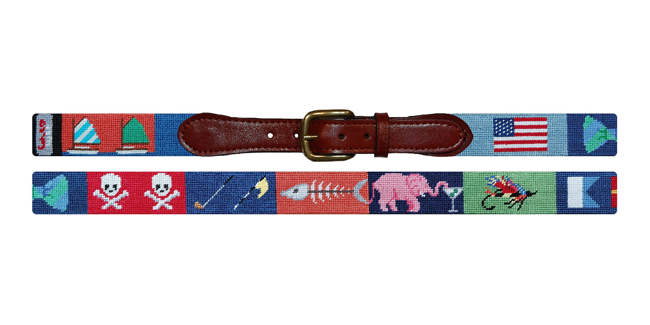 Smathers & Branson Greatest Hits Traditional Needlepoint Belt, Size 40 (B-251-40) by Smathers & Branson (Image #1)