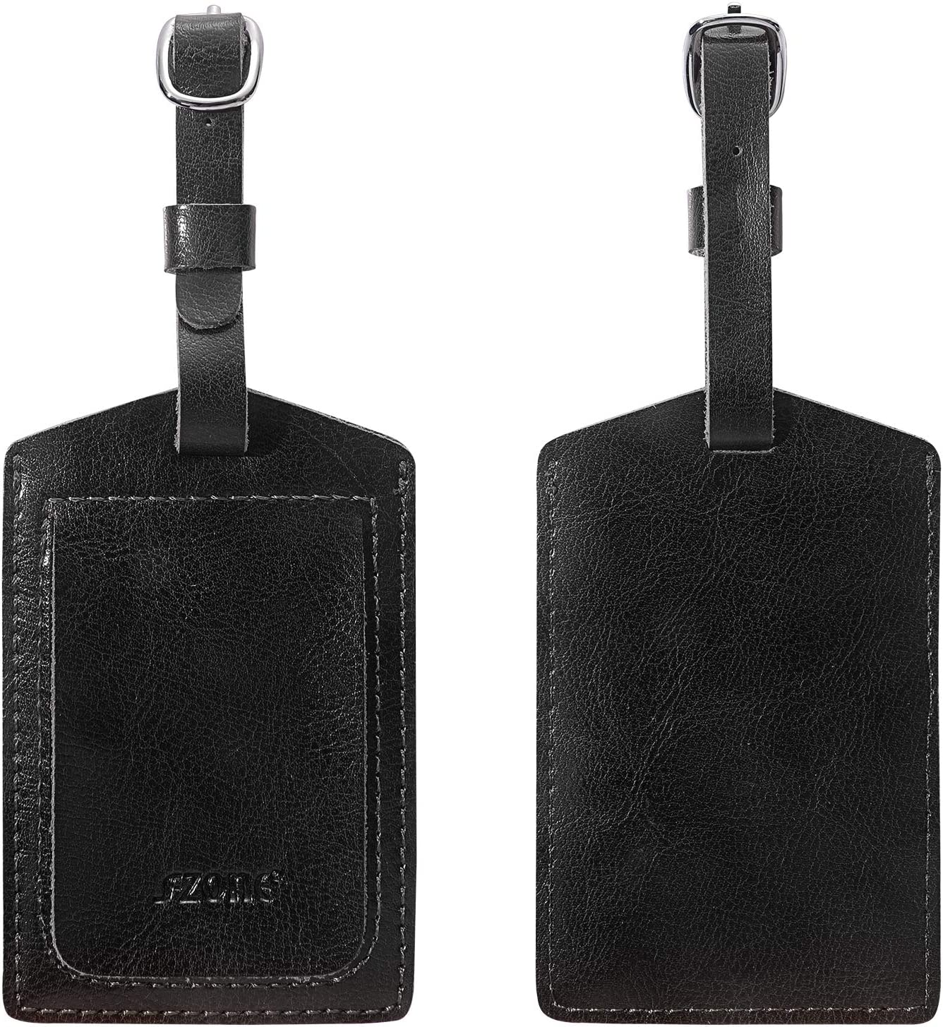 Red-Fox Leather Luggage Tags Personalized Travel Accessories With Privacy Flap