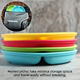 100% Silicone Plates for Toddlers | 3 Pc Set
