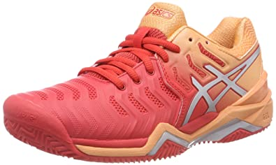 quality design b7ced 5dd22 ASICS Gel-Resolution 7 Clay, Chaussures de Tennis Femme, Multicolore (Red  Alert