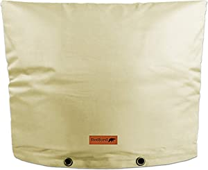 """Redford Supply Pro Outdoor Backflow Preventer Insulation Cover for Winter Pipe Freeze Protection - Multi-use Waterproof Pouch for Water Sprinkler Valve Box, Meter or Controller (28""""W x 20""""H, Beige)"""
