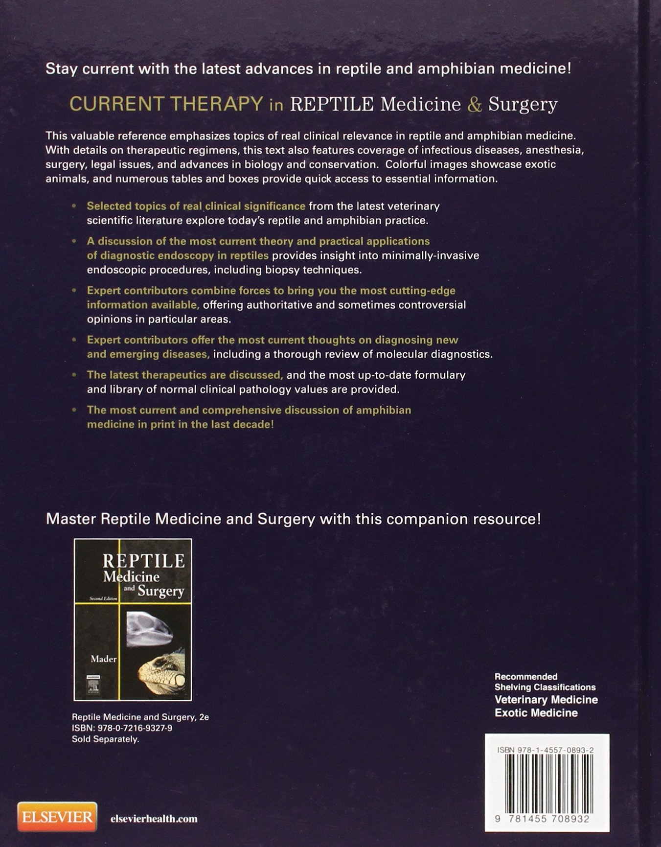 Current Therapy in Reptile Medicine and Surgery, 1e: Amazon.co.uk: Douglas  R. Mader MS DVM, Stephen J. Divers BVetMed DZooMed DACZM DipECZM(herp)  FRCVS: ...