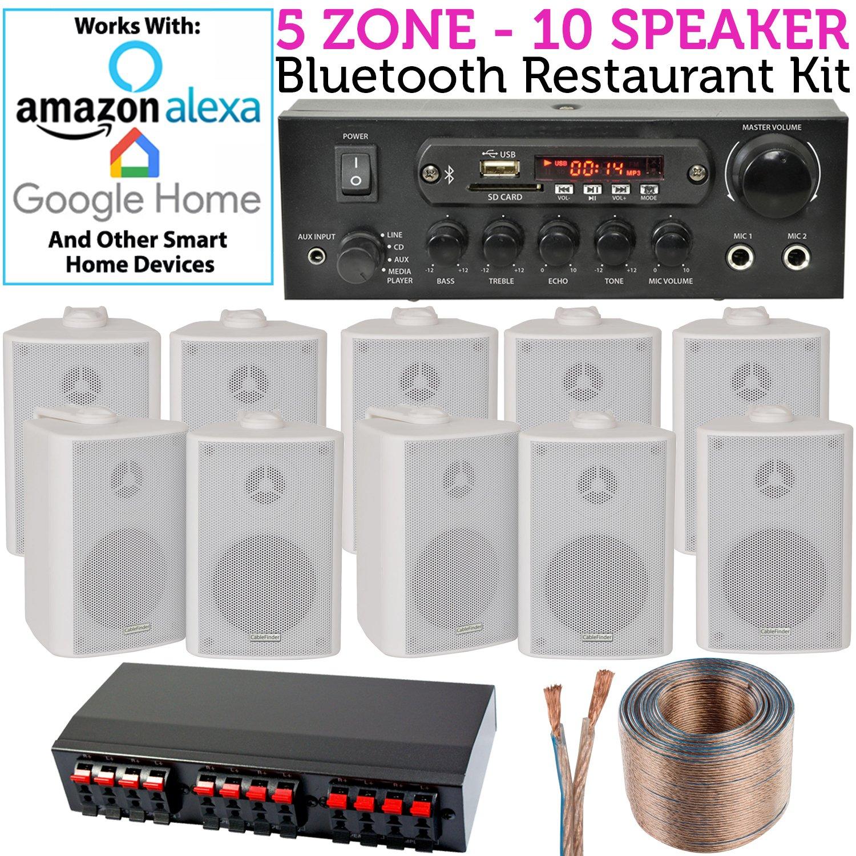 10 x Lautsprecher, 5 Zone, Hintergrund Musik: Amazon.de: Elektronik