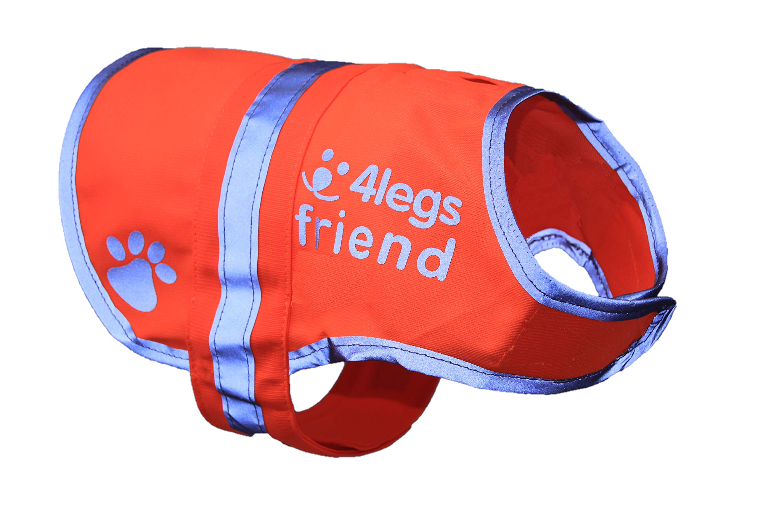 XL Safety Reflective Dog Vest (5 Sizes, X-Large, 85-130 lb) - High Visibility for Outdoor Activity Day and Night, Keep Your Dog, Visible & Safe from Cars & Hunting Accidents | Blaze Orange by 4LegsFriend