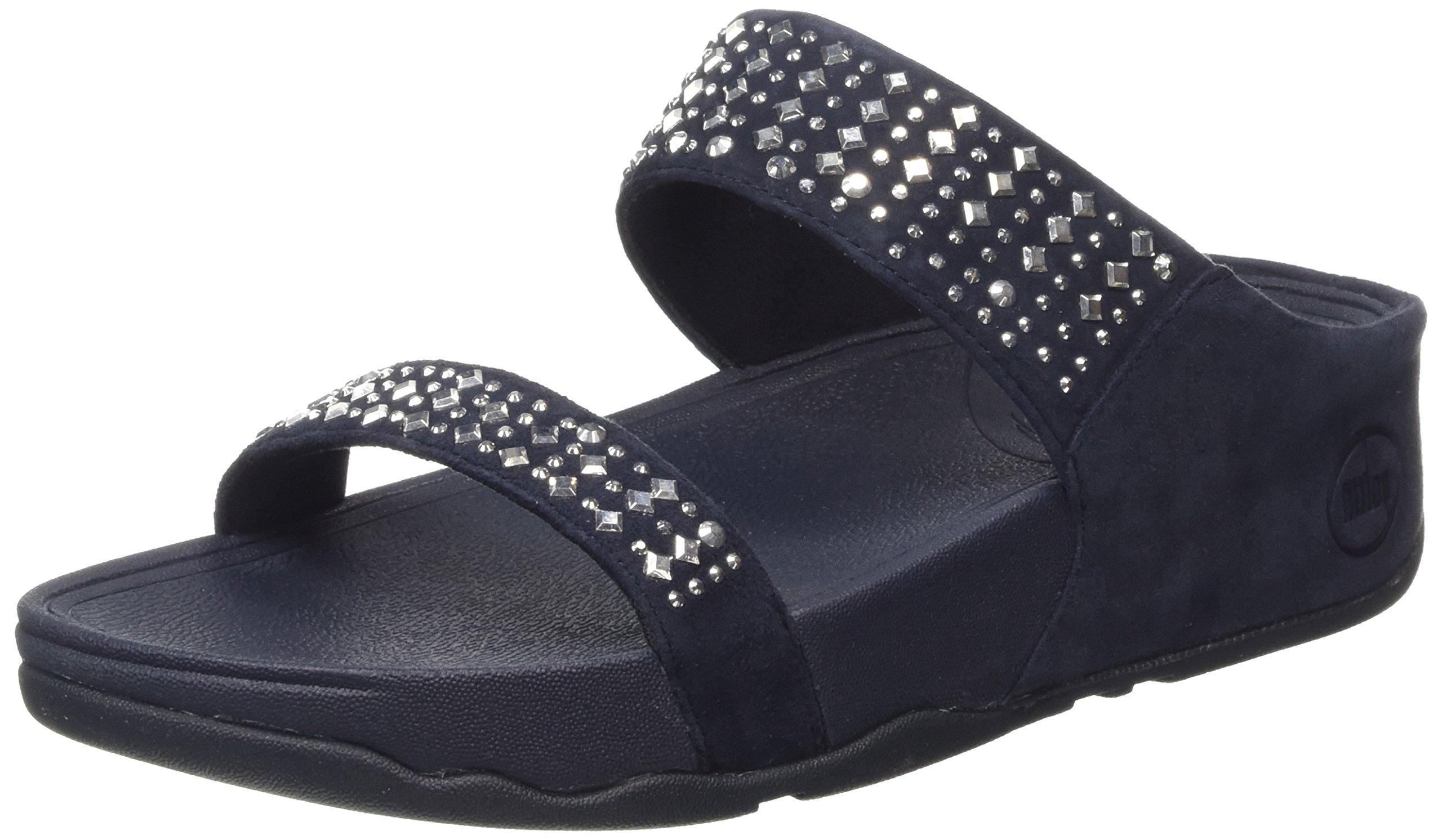 FitFlop Women's Novy Slide Sandal, Supernavy, 5 M US