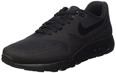 Nike Mens Air Max 1 Ultra Essential Black/Black/Black Running Shoe 9 Men