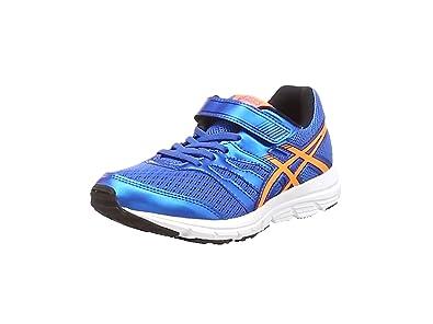 Asics Gel-Zaraca 4 PS, Chaussures de Running Entrainement Mixte enfant - Bleu (Electric Blue/Hot Orange/Black 3930) - 27 EU