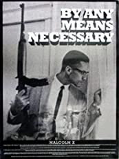 "Tri-Seven Entertainment Malcolm X Poster by Any Means Necessary with Bio Print African American Black History, 18"" x 24"""