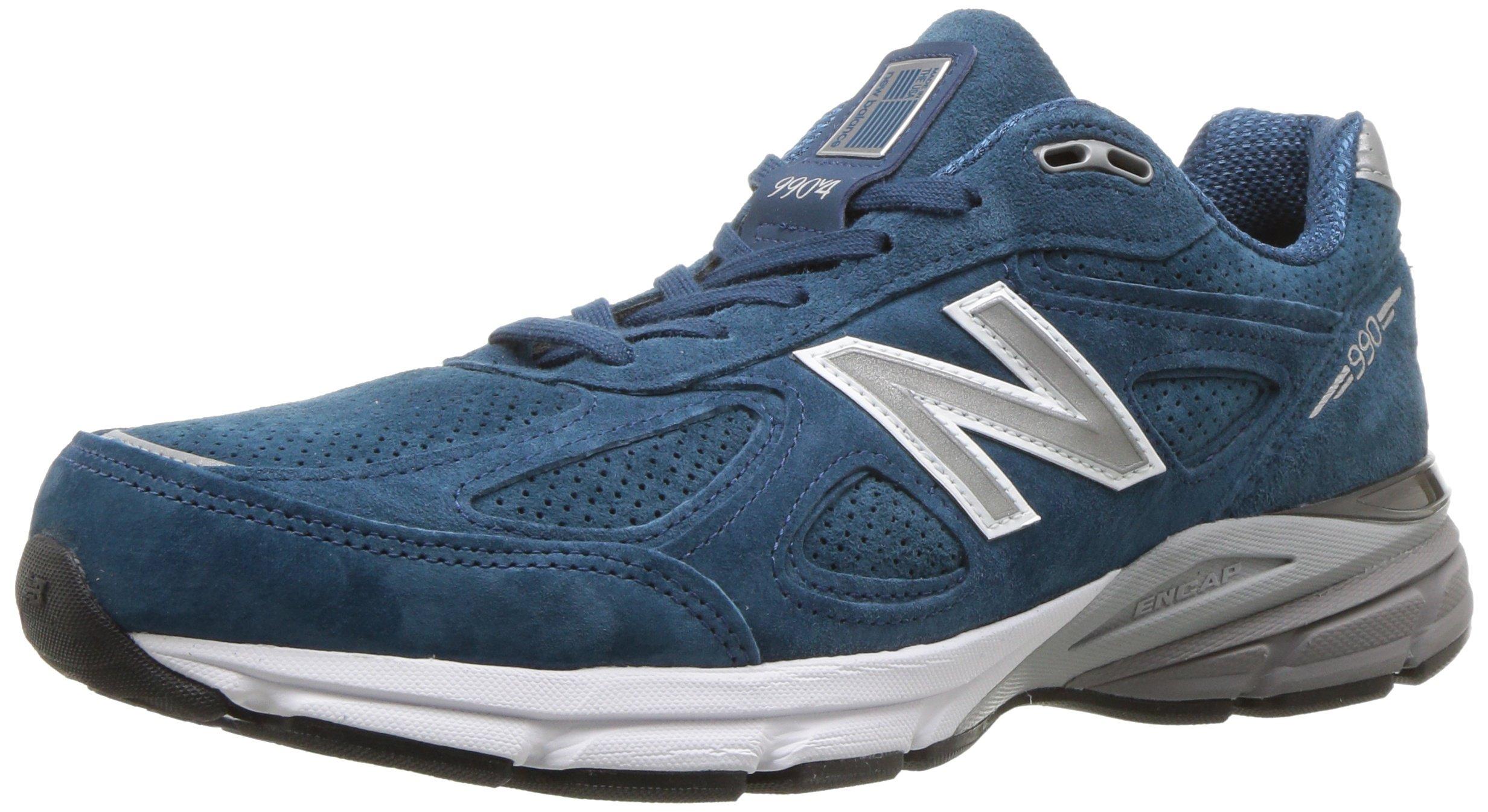 New Balance Men's 990v4 Running Shoe, North Sea/White, 7 D US