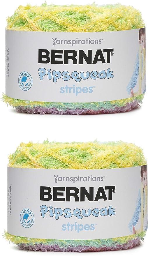 Bernat Pipsqueak Stripes Yarn, 9.8 Oz, Birdsong 2-Pack