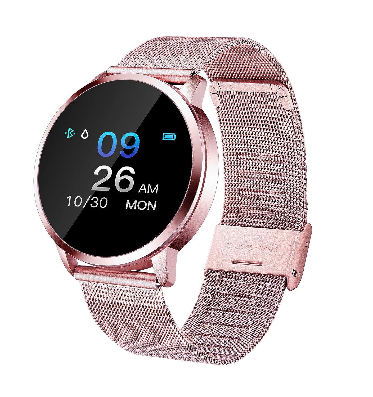 Adsvtech Smartwatch, Impermeable Reloj Inteligente Mujer Hombre, Pulsera Actividad Inteligente Reloj Deportivo Reloj Fitness con Monitor de sueño ...