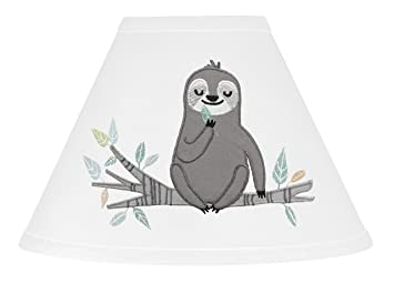 Jungle Sloth Leaf Blue and Grey Baby Kid Clothes Laundry Hamper by Sweet Jojo