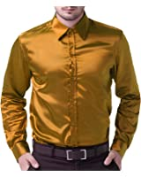 Fit Slim Shirts For Men Long Sleeve Solid Color CL5250