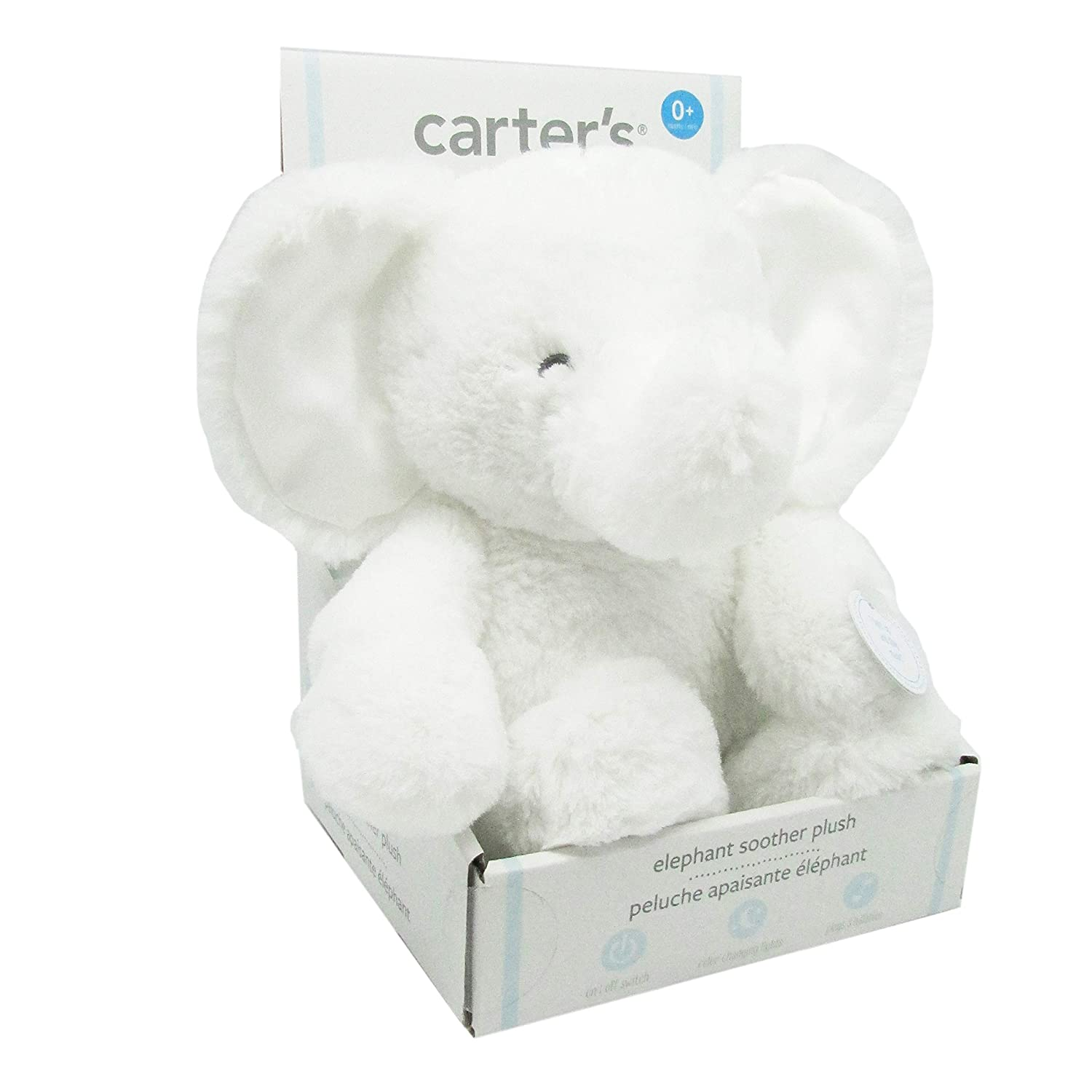 Carters Music & Lights Elephant Plush Soother, 10.5