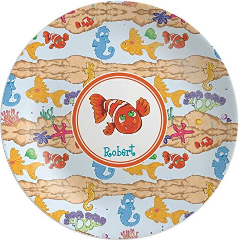 Under the Sea Melamine Plate (Personalized)  sc 1 st  Amazon.com & Amazon.com | Under the Sea Melamine Plate (Personalized): Dinner Plates