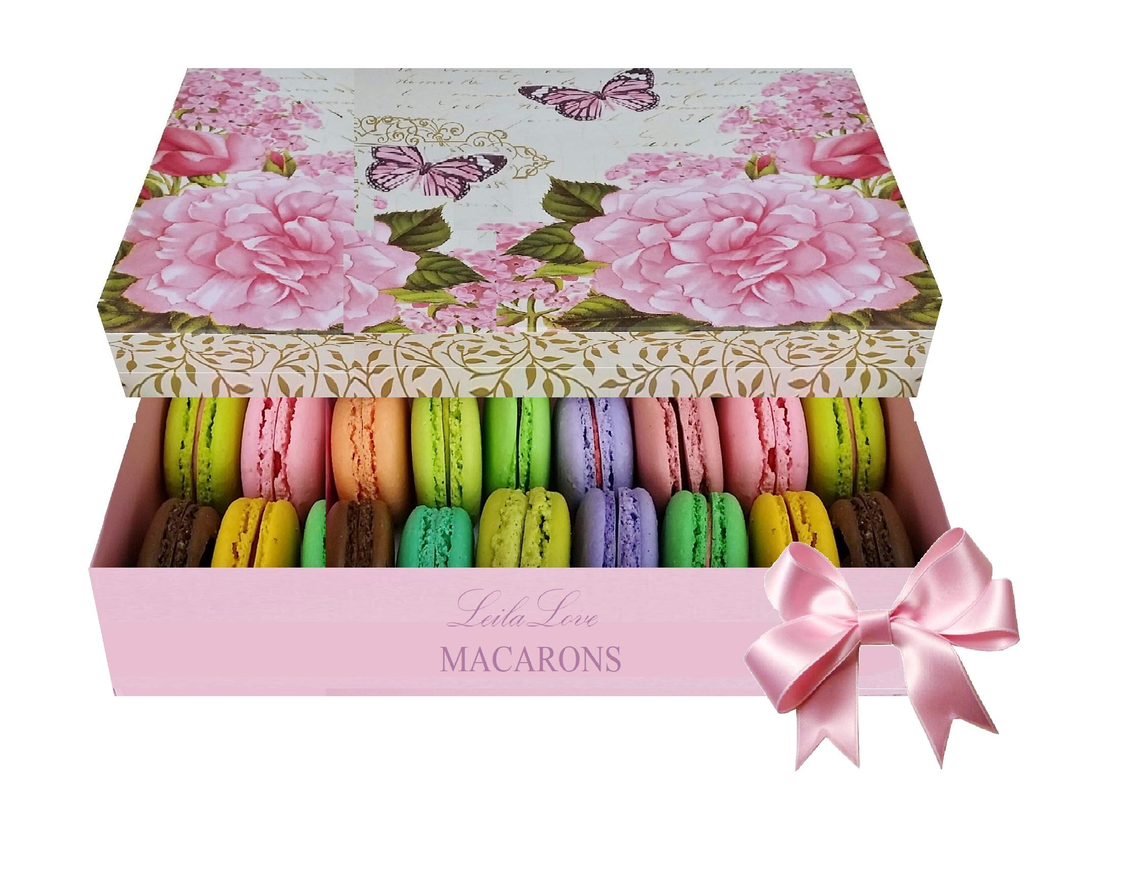 Paris Souvenir - 25 Macaron Varieties - French gift box may vary - Perfect for gifting