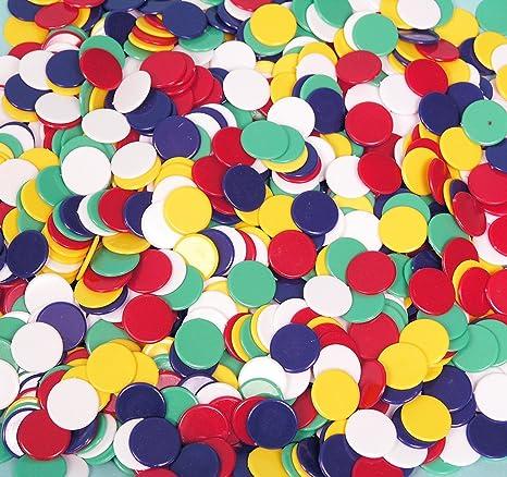 Witzigs - Fichas de colores (500 unidades, 22 mm)