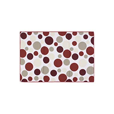 Ritz Polka Dot Reversible Absorbent Microfiber Dish Drying Mat, 21-inch by 14-inch, Crimson Red