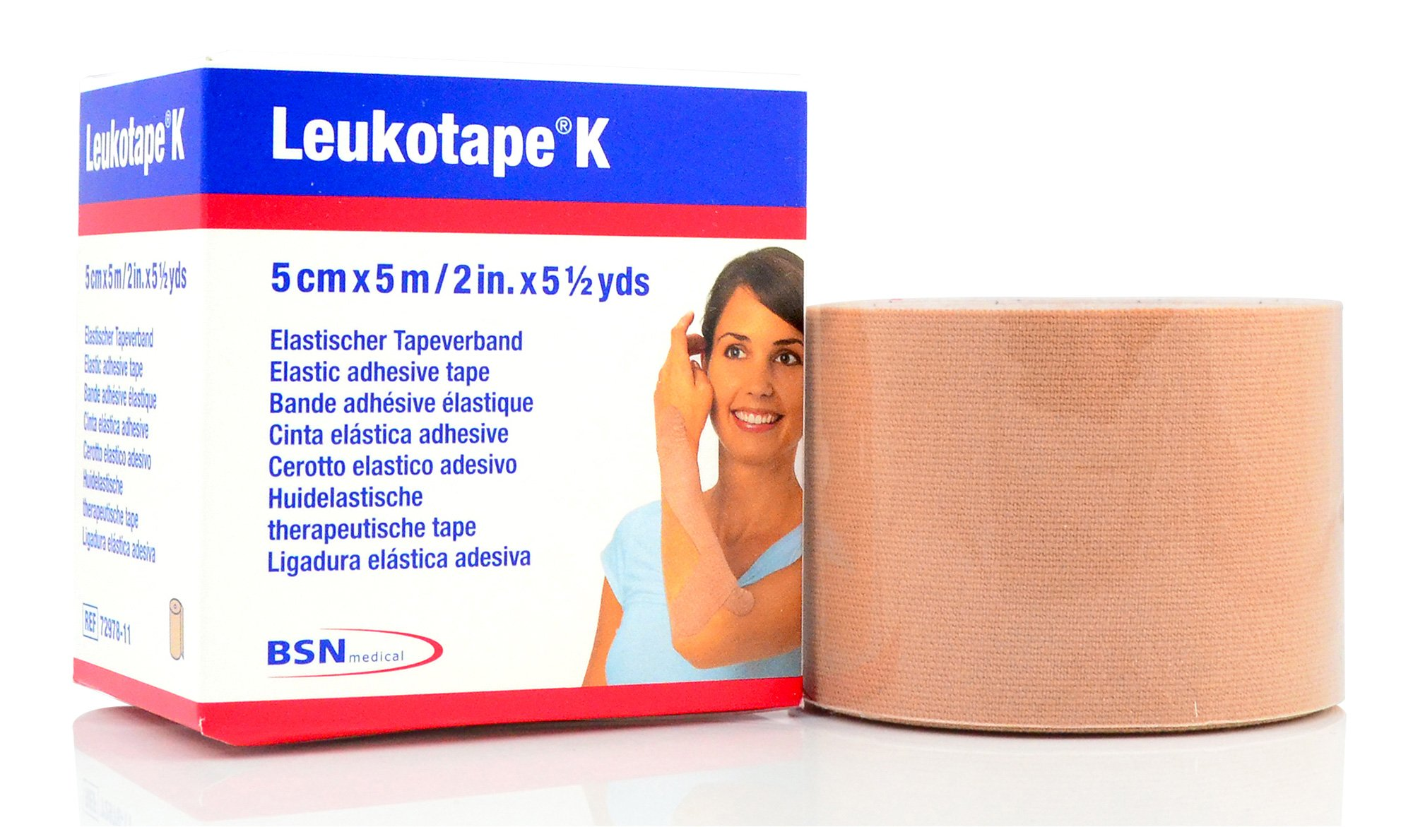 Leukotape K - Therapeutic Kinesiology Tape - 2'' x 5.4 Yard Roll Tan