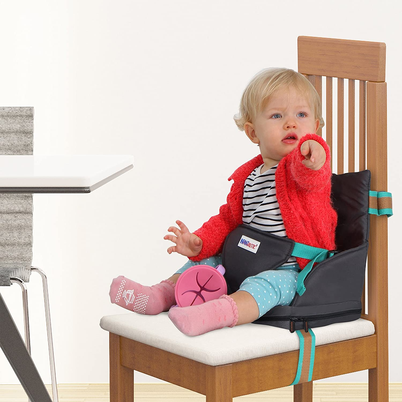 Rehausseur de Si/ège pour B/éb/é Sur/él/évation Coussin Coton et Polyester R/ésistant Lavable Ajustable 27x32x23 cm D/émontable Chaise Haute pour B/éb/és Enfants