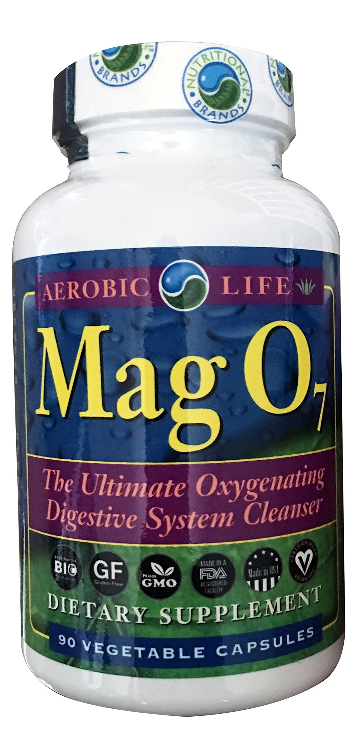 Aerobic Life Mag O7 Oxygen Digestive System Cleanser Capsules,  90 Count by Aerobic Life