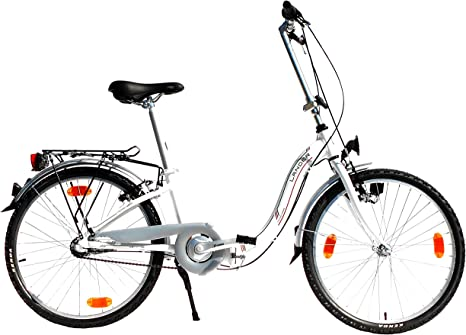 LANDER bicicleta plegable 24 pulgadas (=61) Marco de Aluminio de ...