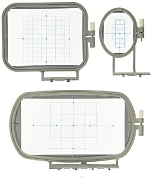 SewTech 3-Piece Embroidery Hoop Set for Brother Embroidery Machines