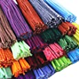 Rimobul Creative Arts Striped Chenille Stem Class Pack, 6 mm x 12 Inch, Assorted Colors, Pack of 100