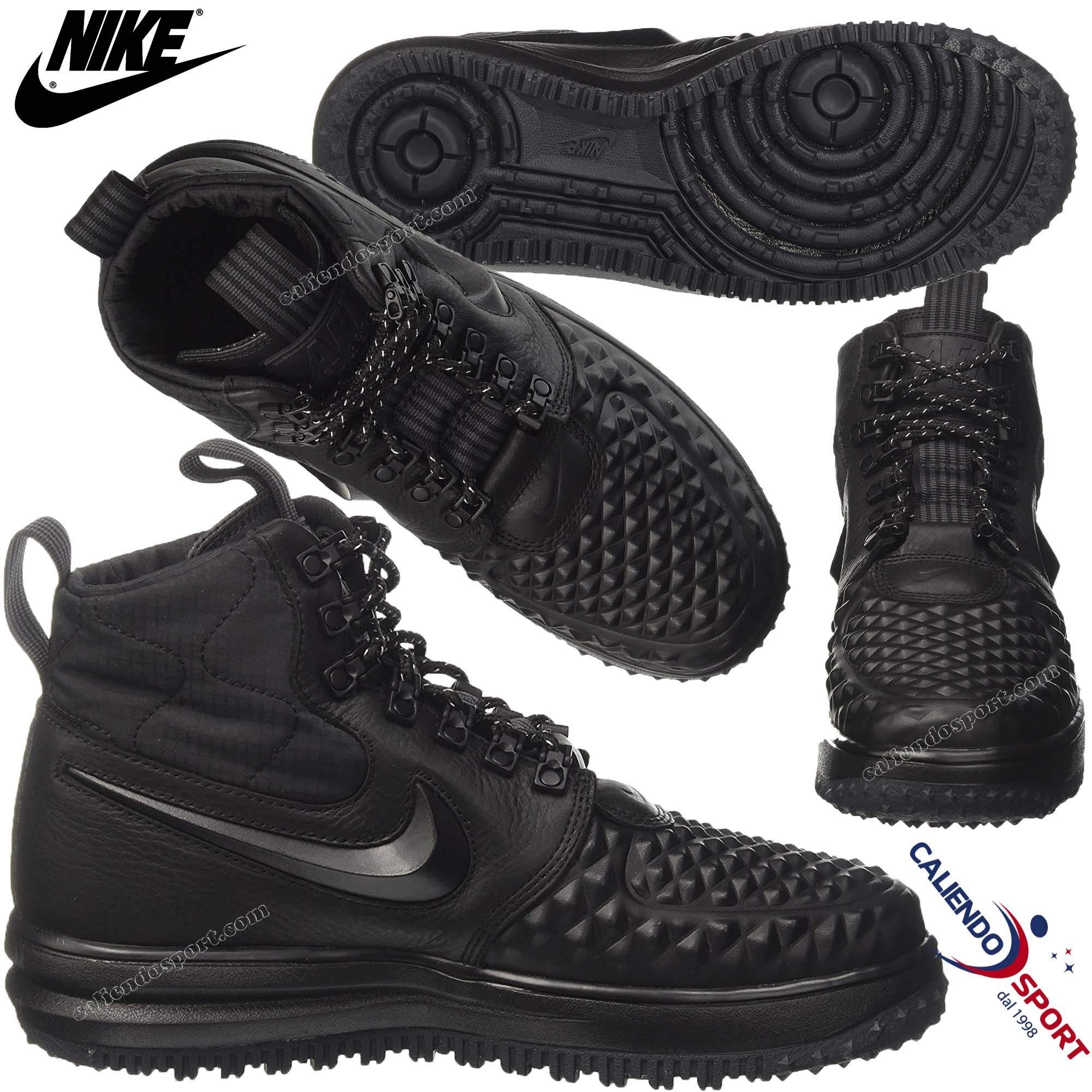 Nike WMNS Lunar Force 1 Duckboot Women Casual, BlackBlack White, Size 6.5
