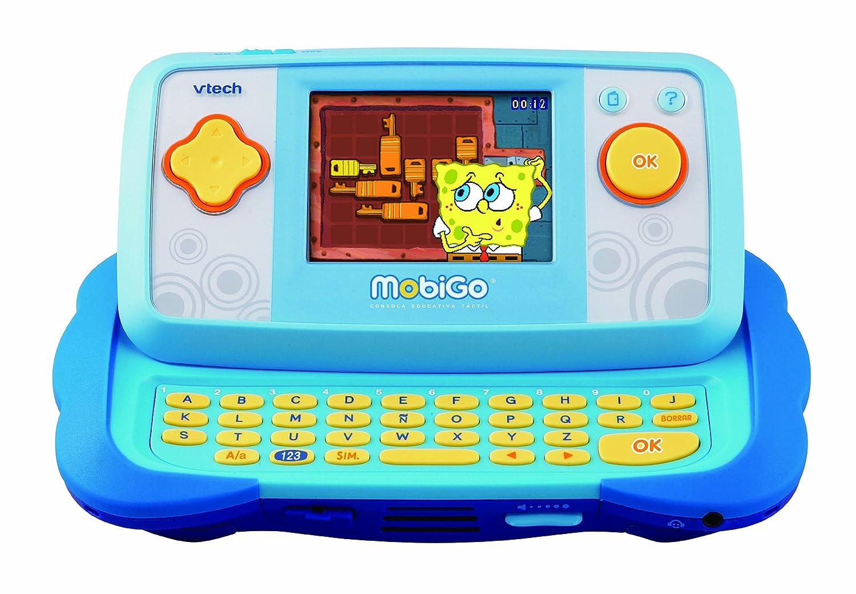 VTech MobiGo Consola de juegos educativos con juego Bob Esponja color azul