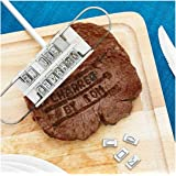 Rambling BBQ Branding Mold, Creative Barbecue Branding Iron Tool Barbecue Baked with Changeable Letters
