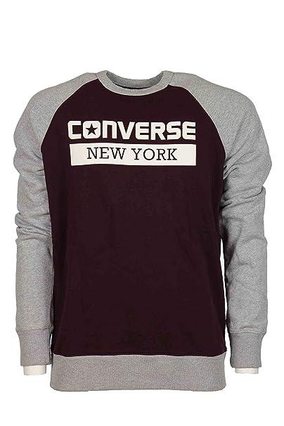 Converse - Sudadera - para hombre burdeos-gris S: Amazon.es: Ropa y accesorios