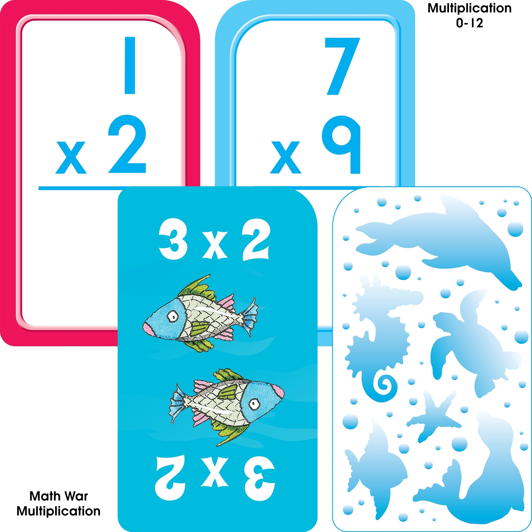 School Zone - Math 3-4 Flash Card 4-Pack - Ages 6 and Up ...