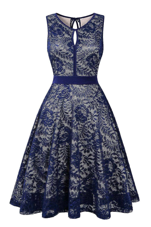 Navy bluee BBX Lephsnt Womens Summer Dresses Sleeveless Pockets Casual Round Neck Swing TShirt Dress