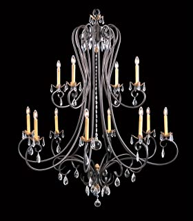 product image for Framburg 9907 MB 12-Light Liebestraum Foyer Chandelier, Mahogany Bronze