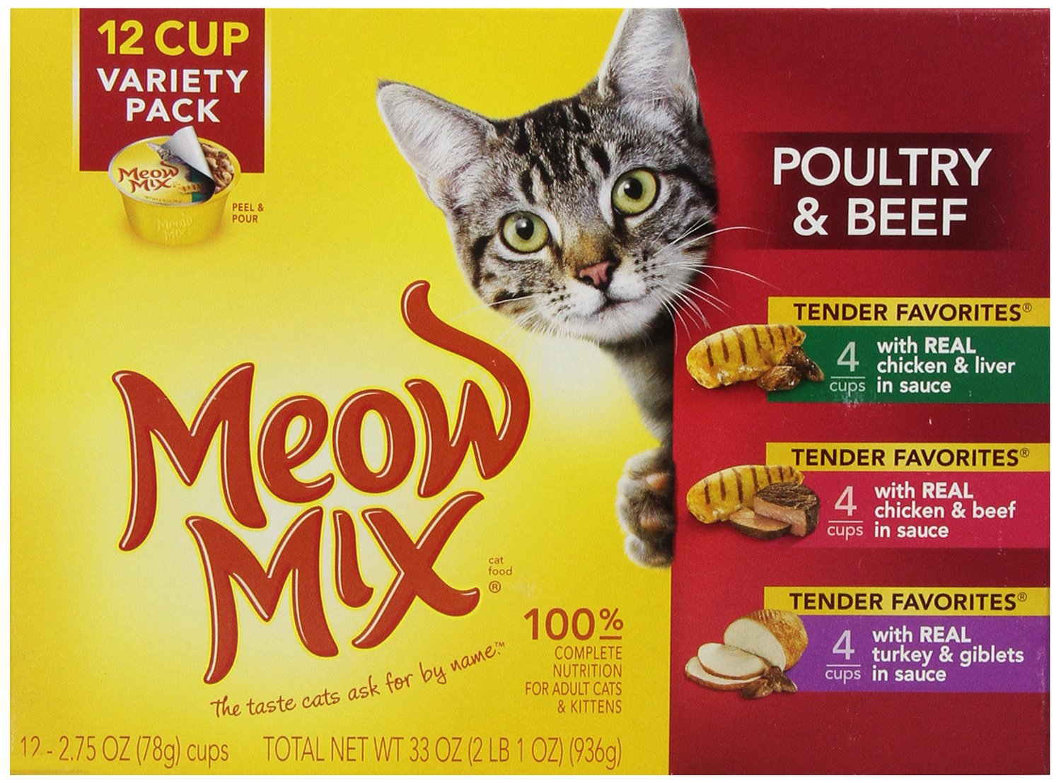 Meow Mix Tender Favorites Wet Cat Food Variety Pack