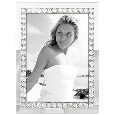 Malden International Designs Malden Brilliance Jewel Mirror Picture Frame, 5x7, Mirrored
