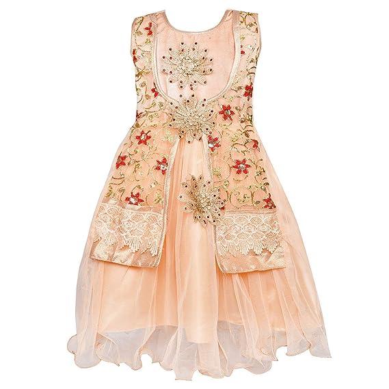 8c5e7b88eb Wish Karo Baby Girls Long Frock Party wear Dress DN LF54pk  Amazon ...