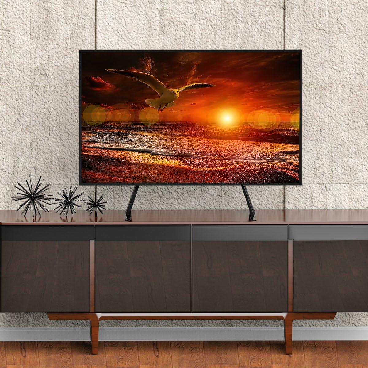 Soporte Universal TV Desde 27 Pulgadas a 55 Pulgadas con Gestión de Cables y Ajuste de Altura HT01B-001: Amazon.es: Electrónica