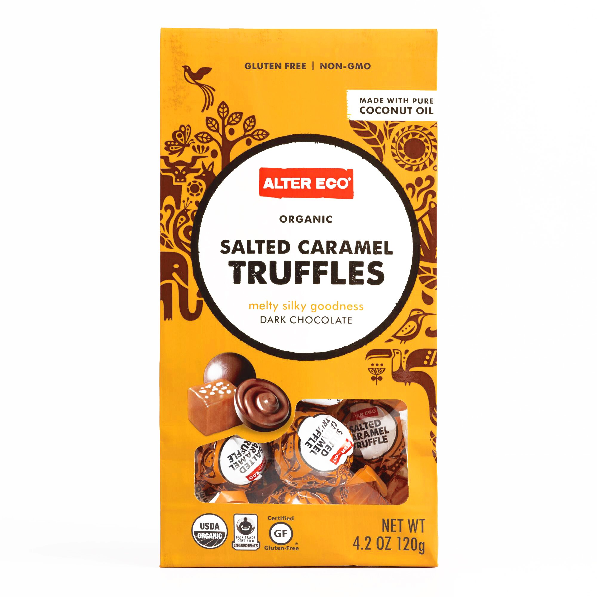 Alter Eco Organic Salted Caramel Truffles 4.2 oz each (2 Items Per Order, not per case)