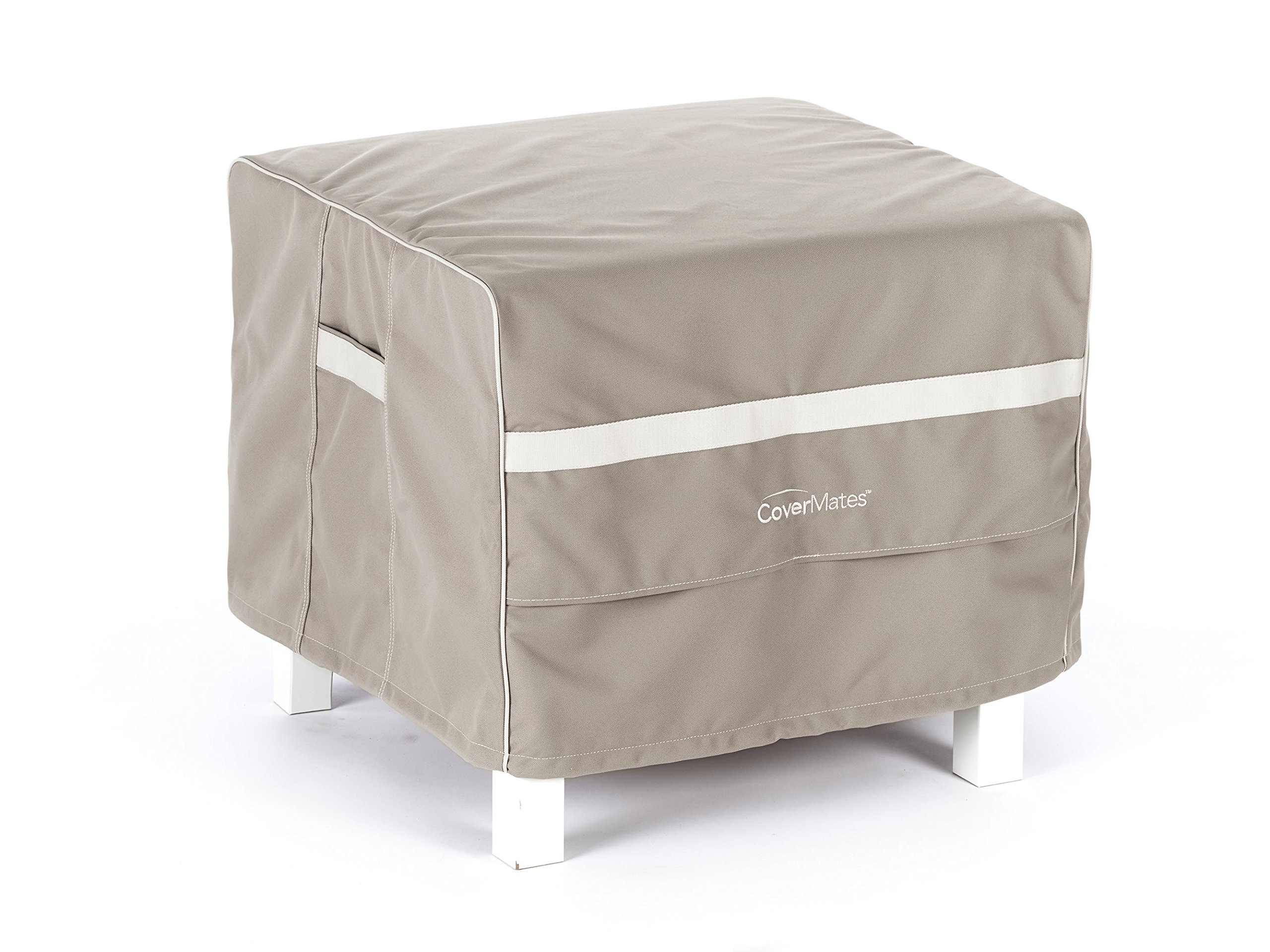 CoverMates – Square Ottoman Cover – 38W x 38D x 20H – Prestige Collection – 7 YR Warranty – Year Around Protection- Clay by CoverMates (Image #1)
