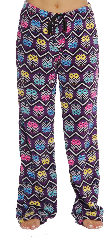 Petite to Plus Size Just Love Womens Cute Character Print Plush Pajama Pants