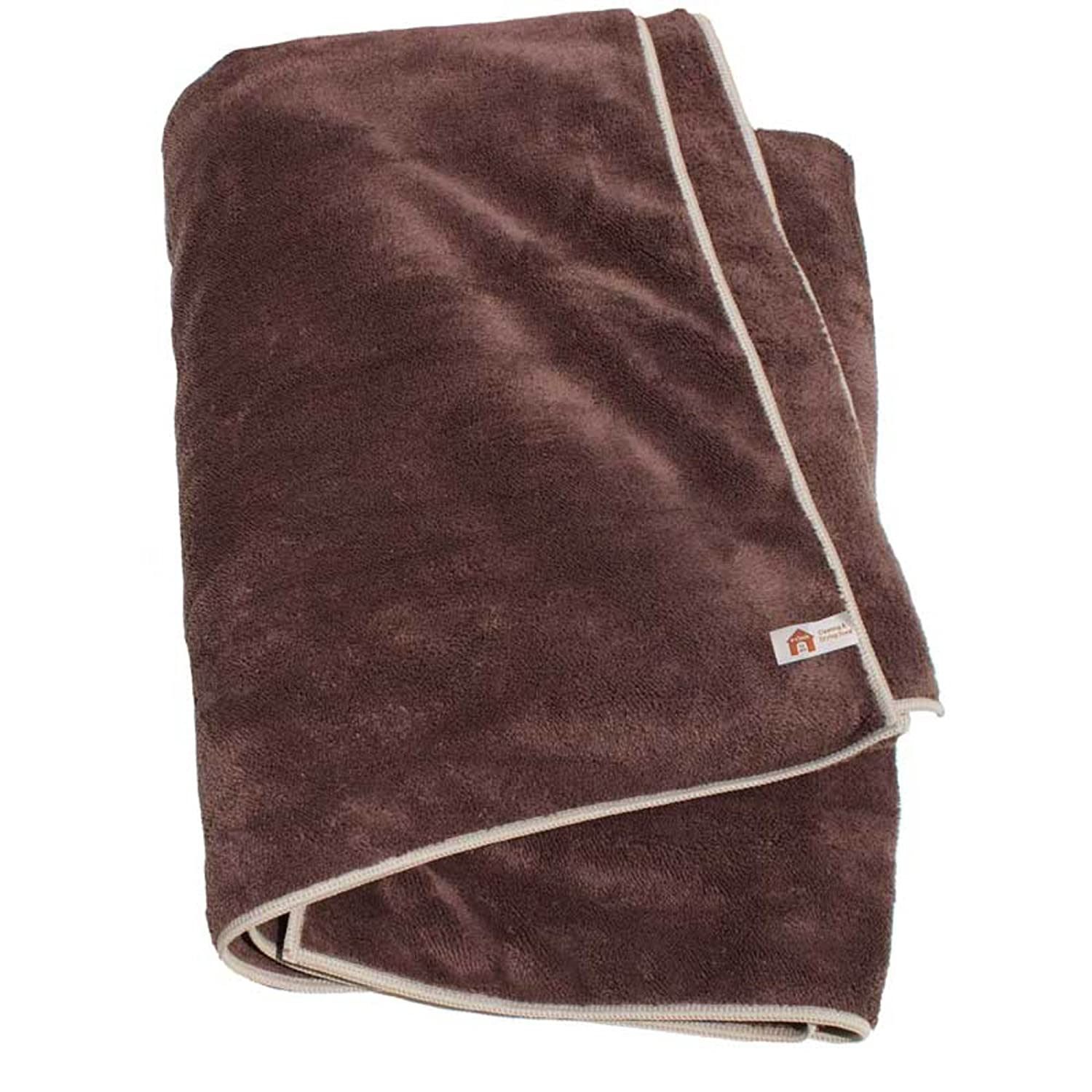 E-Cloth for Pets Large Cleaning and Drying Towel, Brown