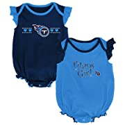 Outerstuff NFL NFL Tennessee Titans Newborn & Infant Homecoming Bodysuit Combo Pack Dark Navy, 3-6 Months
