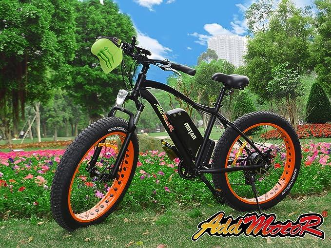 Bicicleta Motan eléctrica actualizada, de Addmotor, motor Bafang M-550 48V 500 W, 10.4 AH, pila de litio de Samsung, bicicleta de montaña eléctrica con 7 ...