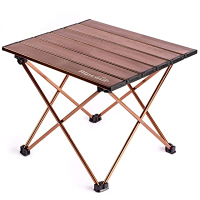Alpcour Portable Camping Table – Lightweight, Compact Folding Side Table in a Bag with Aluminum Top & Heavy Duty Hinge for Easy Travel & Storage – Great for Outdoor BBQ, Backpacking, Tailgate & More : Sports & Outdoors