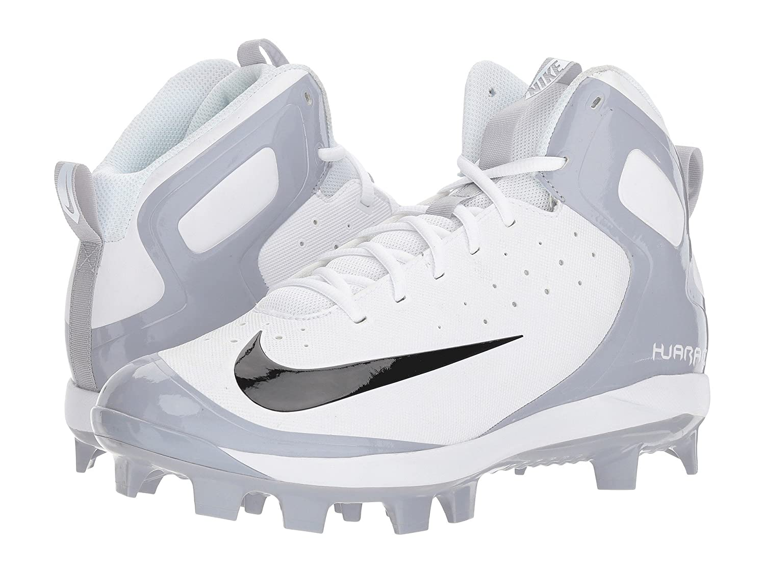 (ナイキ) NIKE メンズ野球ベースボールシューズ靴 Alpha Huarache Pro Mid MCS White/Black/Wolf Grey 9 (27cm) D Medium B078Q1QTK4
